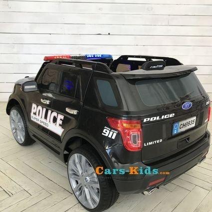 Электромобиль Ford Police (полицейский, колеса резина, сиденье кожа, пульт, музыка, рация)