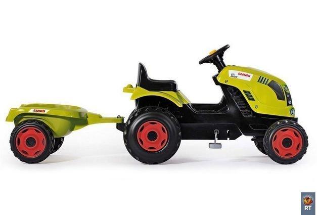 Smoby Трактор педальный XL с прицепом CLAAS (размер 142х44х54,5см, от 3х лет)