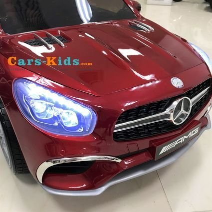 Электромобиль Mercedes-Benz SL65 AMG (колеса резина, кресло кожа, пульт, музыка)